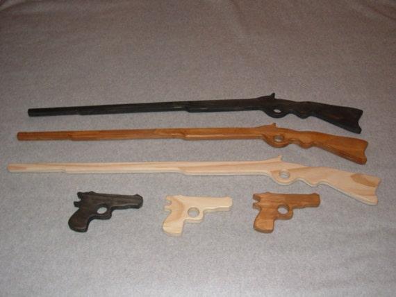 Wooden Rifle Pistol Combo