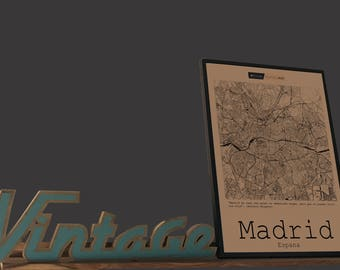 Map of Madrid to frame 50 x 70-Havana Collection