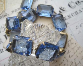blue statement Necklace, light sapphire necklace, Georgian collet, Paste Necklace, Edwardian jewelry, j. crew, Ralph Lauren
