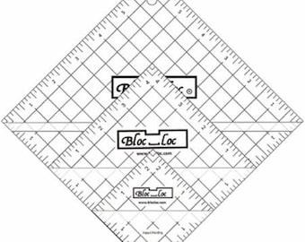 "Half Square Triangle Ruler Set 2  - Set includes: 2.5"", 4.5"", & 6.5"" rulers"