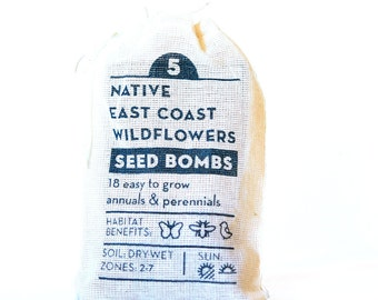 East Coast Wildflowers Native Seed Bombs Gardening Gift