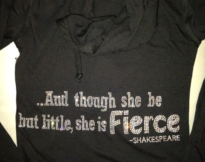 Black workout hoodie. And though she be but little she is fierce workout hoodie. Ladies rhinestone fitness zip up hoodie. Juniors hoodie.