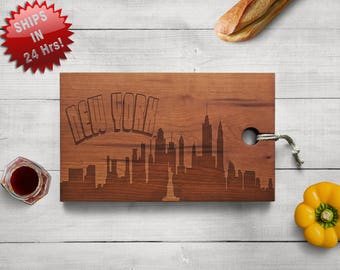 Personalized city Cutting Board, Engraved Cutting Board, going away Gift, Wedding Gift, Housewarming Gift, Anniversary Gift birthday