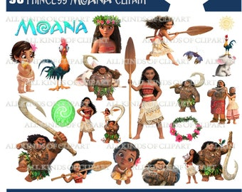 90 PRINCESS MOANA CLIPARTS, Png Images with Transparent Backgrounds