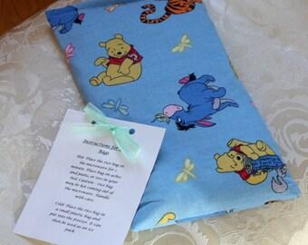 Children's Rice Bag, Winnie The Pooh, Hot Therapy Bag, Boo Boo Bag, Blue, Boy, Girl, Tigger, Kid