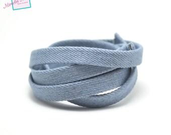 1 m cord/thong John 10 x 2 mm, light blue uni