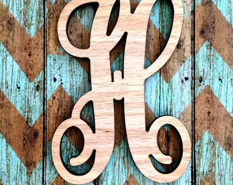 Wooden Single Initial