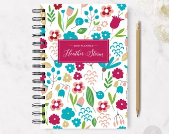 2018 Monthly Planner #17 - Hardcover - Coil Bound - Tabbed - Weekly Planner - Daily Planner