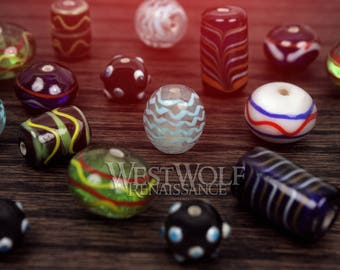 Glass Viking Beads for Jewelry - Norse/Scandinavian/Designs/Round/Oval/Eye/Lines/Bracelet/Necklace/Pendant
