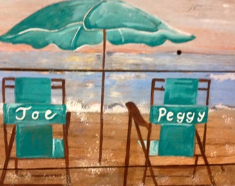 Personalized beach chairs