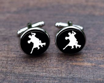 Dance Cufflinks, Dancing Waltz dancer cufflinks, Sports cufflinks for men, Wedding Gift, Groom  Groomsmen gifts, Tie clips
