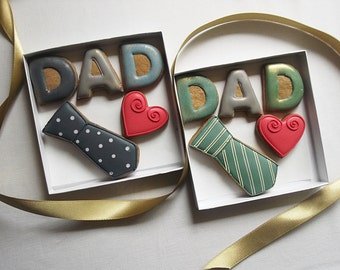 Small Love Dad Fathers Day Cookie Biscuit Gift Box Fathers Day Gift
