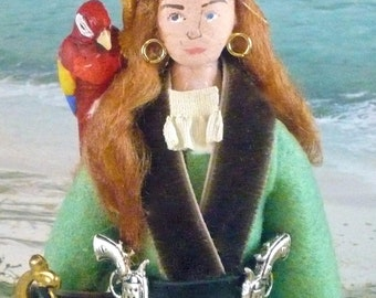 Pirate Doll Miniature Anne Bonny Lady Historical Character