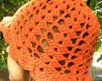 Lacy Orange Summer Cap