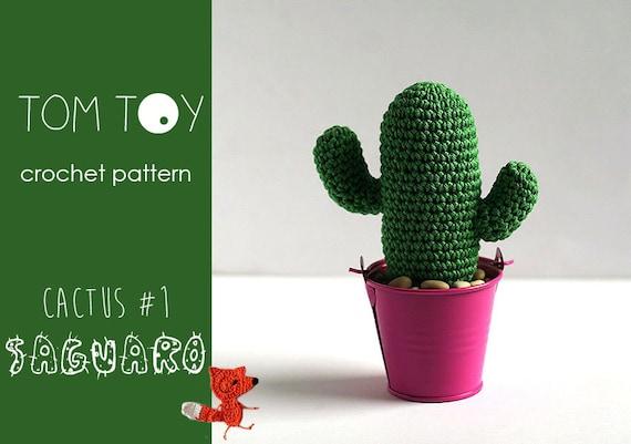 Amigurumi Cactus Crochet Pattern : Saguaro cactus #1 crochet pattern tomtoy potted plants collection