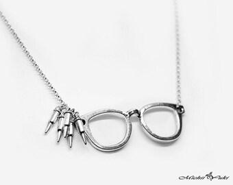 Persona 5 Protagonist / Akira / Joker Phantom Theif Glasses Necklace Version B