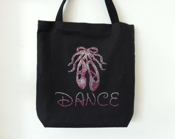 Rhinestone Dance tutubag, Tote Bag, Gift giving idea!