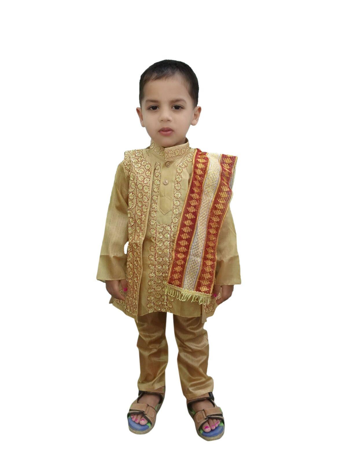 Indian Kids Wear Sherwani Dress Kurta Pajama Jacket