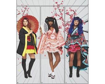 SimplicityPattern 8317 Misses' Geisha Lolita CostumesPlus Size 16-24