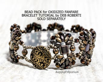 Bead Pack BB-119 Oxidized Fanfare Bracelet by Deborah Roberti, Tutorial Sold Separately, BB119 Oxidized Fanfare Bracelet
