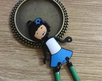 56x24mm articulated doll charm