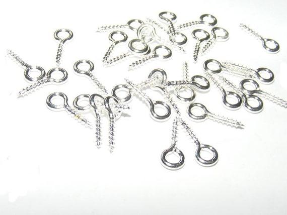 Screw-screw silver 10mm clear x 10