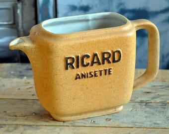Vintage Carafe RICARD 1L, carafe vintage, ancienne carafe, carafe ricard, carafe pastis, pichet ricard, pichet ancien, pichet céramique