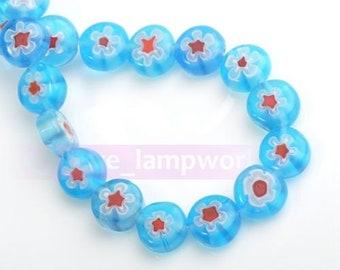 8mm Millefiori glass beads