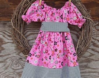 Girls Dress, Girls Pink Dress, Girls Black dress, Fall Dress