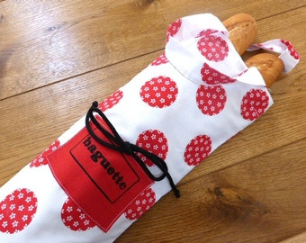 Bread bag  bread tote long bread cotton bag shopping bag cotton baguette bag bread sack