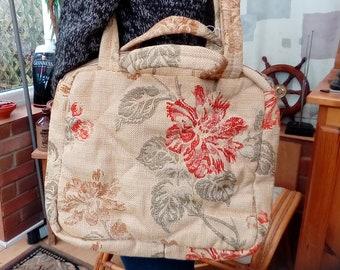Bohemian Hand Made Leaf & Flower Patterned Shoulder Bag