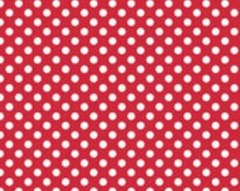 Small Dots Red Riley Blake - 1 One Yard Cut.