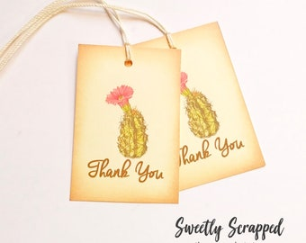 Thank You Tags. CACTUS Tags, Wedding Tags, Desert Wedding, Boho Wedding, Southwest, Plant Tags, Wedding Tags, Favor Tags, Cacti, Wedding