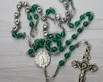 Custom Personalized Name Birthstone Rosary