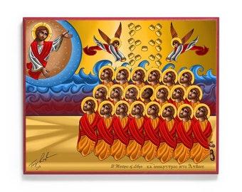 21 New Martyrs of Libya Icon
