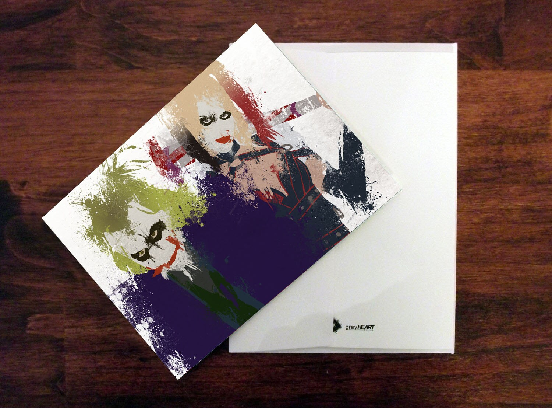 Joker Card Harley Quinn Card Joker Invitation Thank You Card