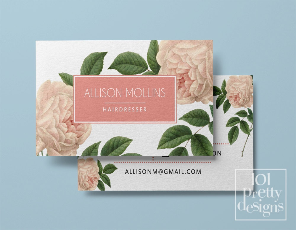 Vintage business card template printable business card zoom cheaphphosting Image collections