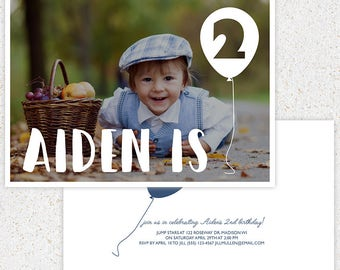 INSTANT DOWNLOAD--First Birthday Invitation Photoshop Card Template--b101