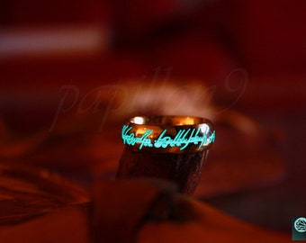 Gold One Ring / Glow in the Dark / Lord of the Rings / LOTR / Elven Ring / Precious ring / Stainless Steel Ring / Gold Ring / The Hobbit /