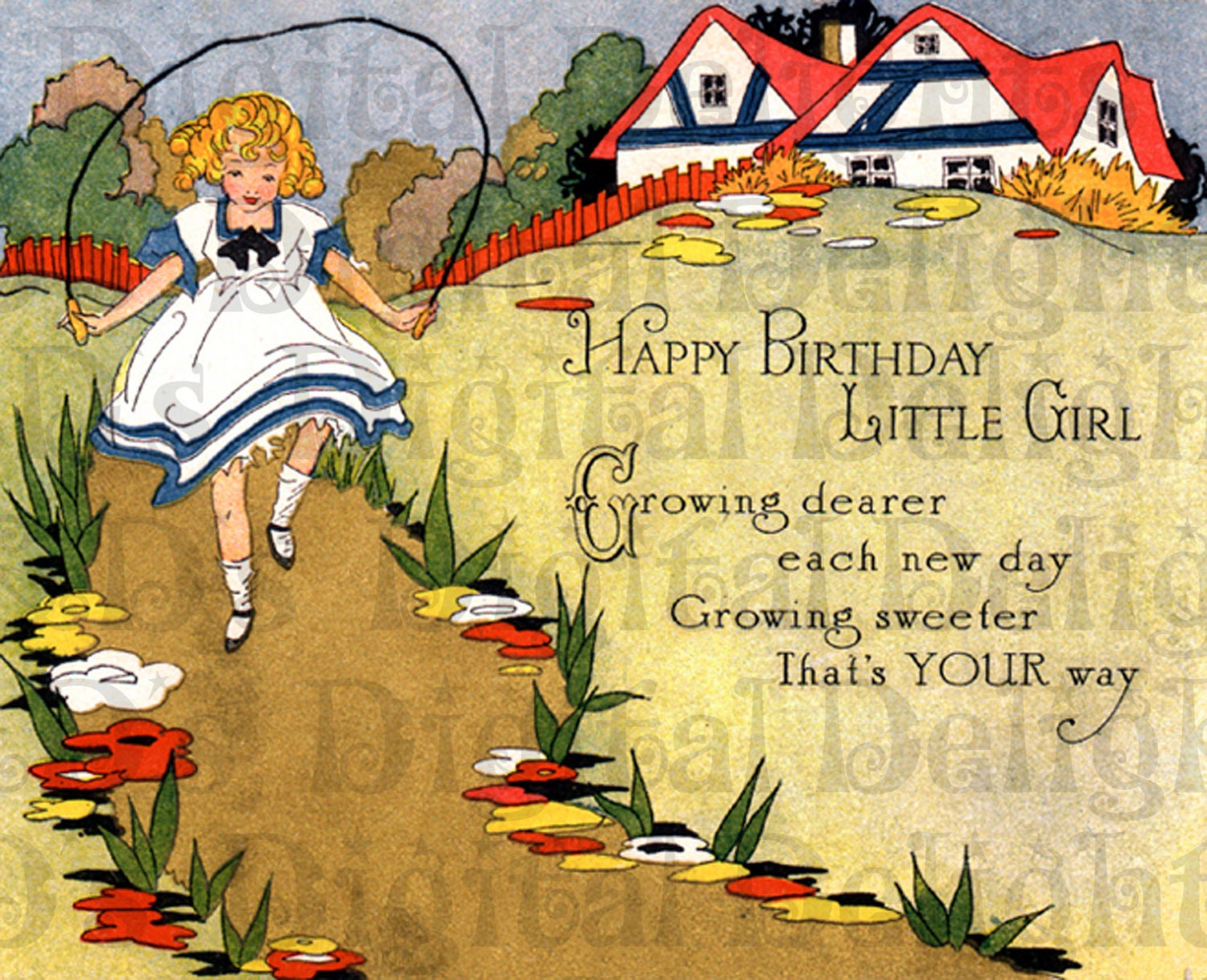 Best birthday card ever for little girl art deco birthday zoom kristyandbryce Image collections