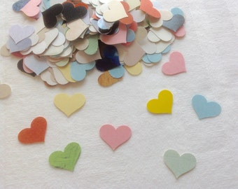Paper Hearts 200 Table Sprinkles Table Confetti Bridal Shower Sprinkles Wedding Table Sprinkles Party Supplies Table Confetti