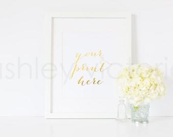 SET of 2 // White Frame Styled Images // Digital Download