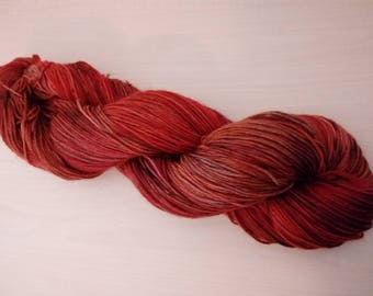 Hand-dyed wool active Superfine autumn forest