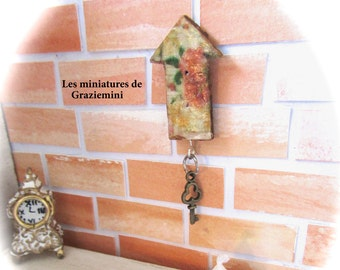 Miniature key holder- scale 1:12- Dollhouse miniatures