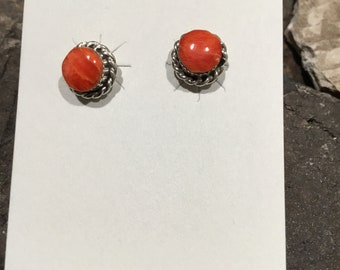 Coral earrings posts