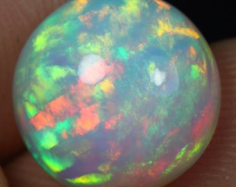 3.85cts Brush Rainbow Fire Pattern Natural Ethiopian Welo Opal
