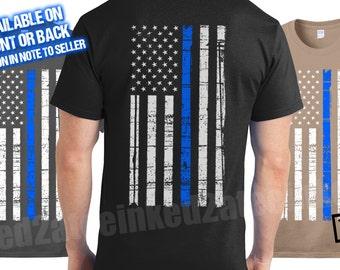 Police K9 Unit Thin Blue Line T Shirt German Shepherd Tshirt