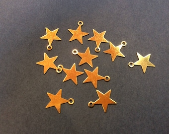 20 charms star 10 mm for jewelry making