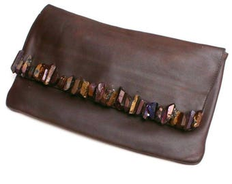 The chocolate clutch bag