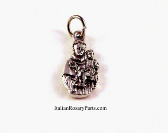 Saint Anthony with Baby Jesus Bracelet Medal Charm Patron of Lost Articles and Fishermen | Italian Rosary Parts